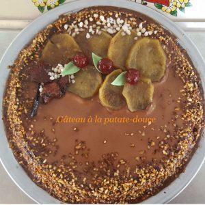 gâteau à la patate -douce et chocolat