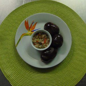Boudins antillais et sa sauce créole