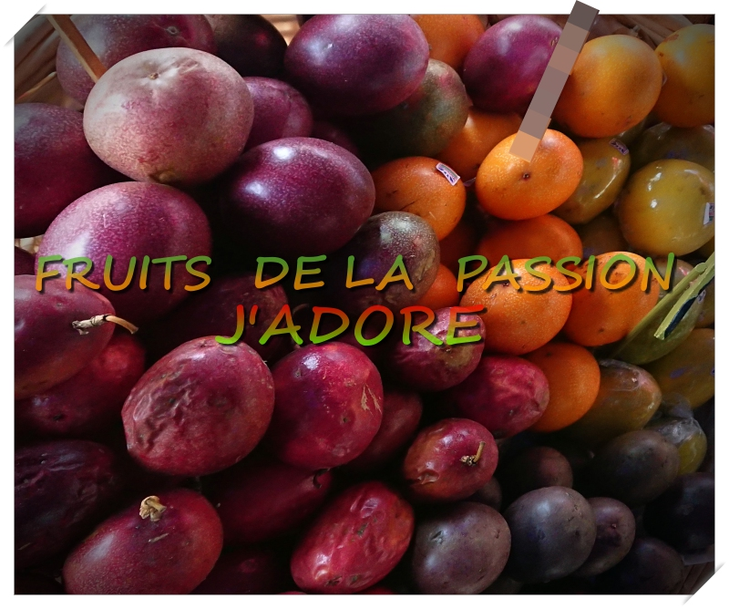 maracudja fruit tropical